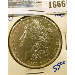1666 _ 1884-O Morgan Silver Dollar