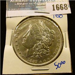 1668 _ 1889 Morgan Silver Dollar