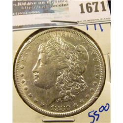 1671 _ 1880 Morgan Silver Dollar