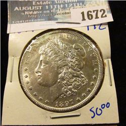 1672 _ 1897 Morgan Silver Dollar