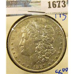 1673 _ 1887 Morgan Silver Dollar