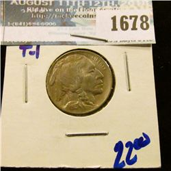 1678 _ High Grade 1913 Type 1 Buffalo Nickel