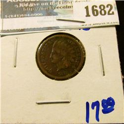 1682 _ 1873 Indian Head Cent With An Open 3