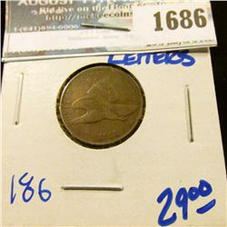 1686 _ 1858 Large Letters Flying Eagle Cent