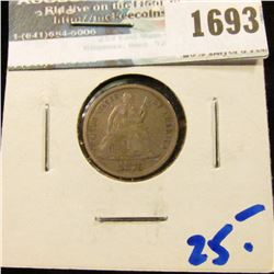 1693 _ 1876 Seated Liberty Dime
