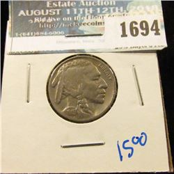 1694 _ 1919 Buffalo Nickel With Full Horn