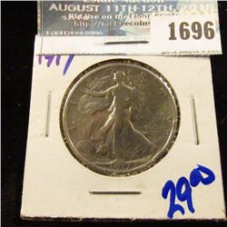1696 _ 1917 Walking Liberty Half Dollar