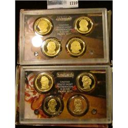 1710 _ 2008 And 2010 Proof Presidential Dollars Set.  These Sets Start With James Monroe And End Wit