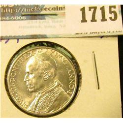 1715 _ Vatican Silver 5 Lire Coin