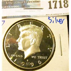 1718 _ 1996-S Proof Silver Kennedy Half Dollar