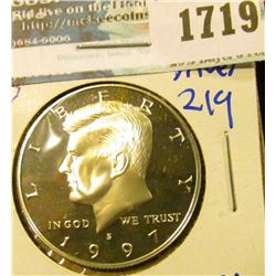 1719 _ 1997-S Proof Silver Kennedy Half Dollar