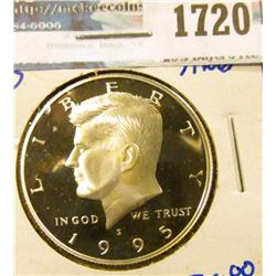 1720 _ 1995-S Proof Silver Kennedy Half Dollar