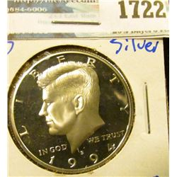 1722 _ 1994-S Proof Silver Kennedy Half Dollar