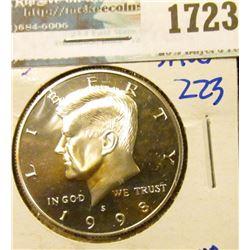 1723 _ 1998-S Proof Silver Kennedy Half Dollar