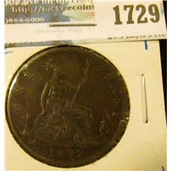 1729 _ 1892 British Large Cent