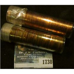 1738 _ (2) Proof Solid Date Rolls Of Memorial Cents Dated 1961 P (and possibly a 1962) & 2006-S.
