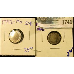 1741 _ 1792 And 1806- Spanish Colonies - Mexico Silver Half Reales