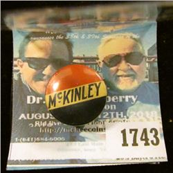 1743 _ William Mckinley Presidential Pin-back