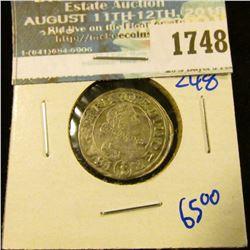 1748 _ Austria 1633 Silver 3 Kreuzer Coin