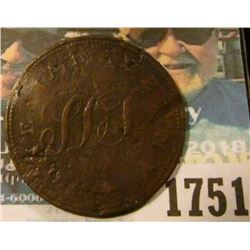 1751 _ St Helena 1821 Halfpenny Km-Tn1… On The Reverse It Says Payable At St Helena By Solomon Dicks