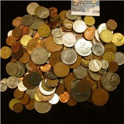 1756 _ Bag Of Mixed Foreign Coins