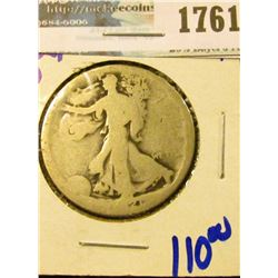 1761 _ Key Date 1921-D Walking Liberty Half Dollar