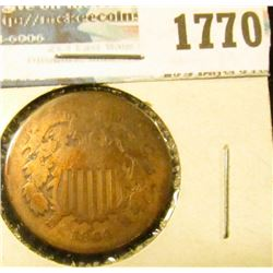 1770 _ 1864 Two Cent Piece