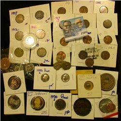 1784 _ Random Coin Lot Includes Louisville, Kentucky Transit Tokens, Replica California Gold, Proof