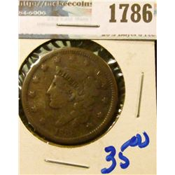 1786 _ 1838 Coronet Head Large Cent