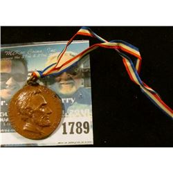 1789 _ Official Commemorative Medal Of The Centenary Of Abraham Lincoln.  This Was Made In 1909 And