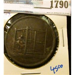 1790 _ One Penny Condor Token Payable At Jackson & Lister's Warehouse.  Jackson & Lister Were Linen