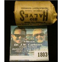 1803 _ 1966 P Original Gem BU Bank wrapped roll of 40% Silver Kennedy Half Dollars, (20 pcs.)