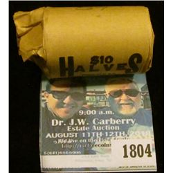 1804 _ 1968 D Original Gem BU Bank wrapped roll of 40% Silver Kennedy Half Dollars, (20 pcs.)