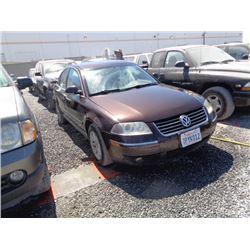 VW PASSAT 2004 T-DONATION