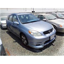 TOYOTA MATRIX 2003 L/S-DONATION