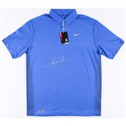 Tiger Woods Signed LE Blue Nike Golf Shirt (UDA COA)