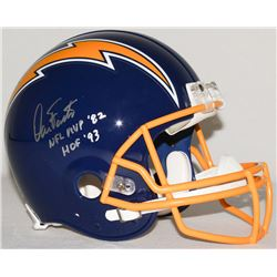 """Dan Fouts Signed Chargers Full-Size Authentic Pro-Line Helmet Inscribed """"NFL MVP '82""""  """"HOF '93"""" Lim"""