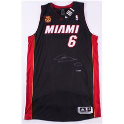 """LeBron James Signed LE Heat Adidas On-Court Jersey with 2013 """"Back 2 Back NBA Finals MVP"""" Patch (UDA"""