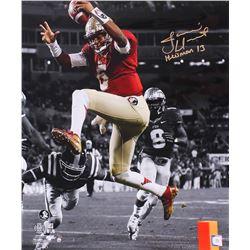 "Jameis Winston Signed Florida State 20x24 Photo Inscribed ""Heisman 13"" Limited Edition #1/13 (Steine"