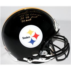 """Terry Bradshaw Signed Steelers Full-Size Authentic Pro-Line Helmet Inscribed """"4x SB Champs,"""" """"2x SB"""