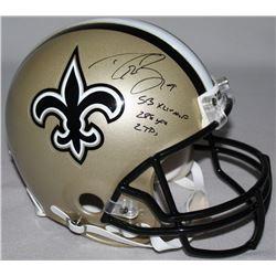 "Drew Brees Signed LE Saints Full-Size Authentic Pro-Line Helmet Inscribed ""SB XLIV MVP,"" ""288 Yds"""
