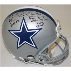 "Michael Irvin Signed Cowboys Full-Size Authentic Pro-Line Helmet Inscribed ""Playmaker,"" ""HOF 07""  ""S"