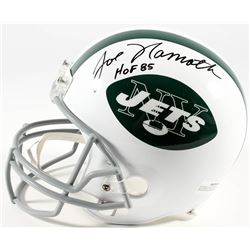 "Joe Namath Signed Jets Full-Size Helmet Inscribed ""HOF 85"" (PSA COA  Namath Hologram)"