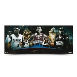 """Allen Iverson Signed 76ers """"Philly's Finest"""" 36x15 Photo (UDA COA)"""
