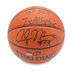 """Alonzo Mourning Signed Basketball Inscribed """"HOF 2014 7x All-Star"""" LE 33 (UDA COA)"""