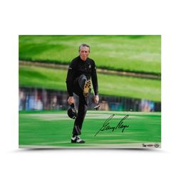 "Gary Player Signed ""The Kick"" 16x20 Photo LE 25 (UDA COA)"