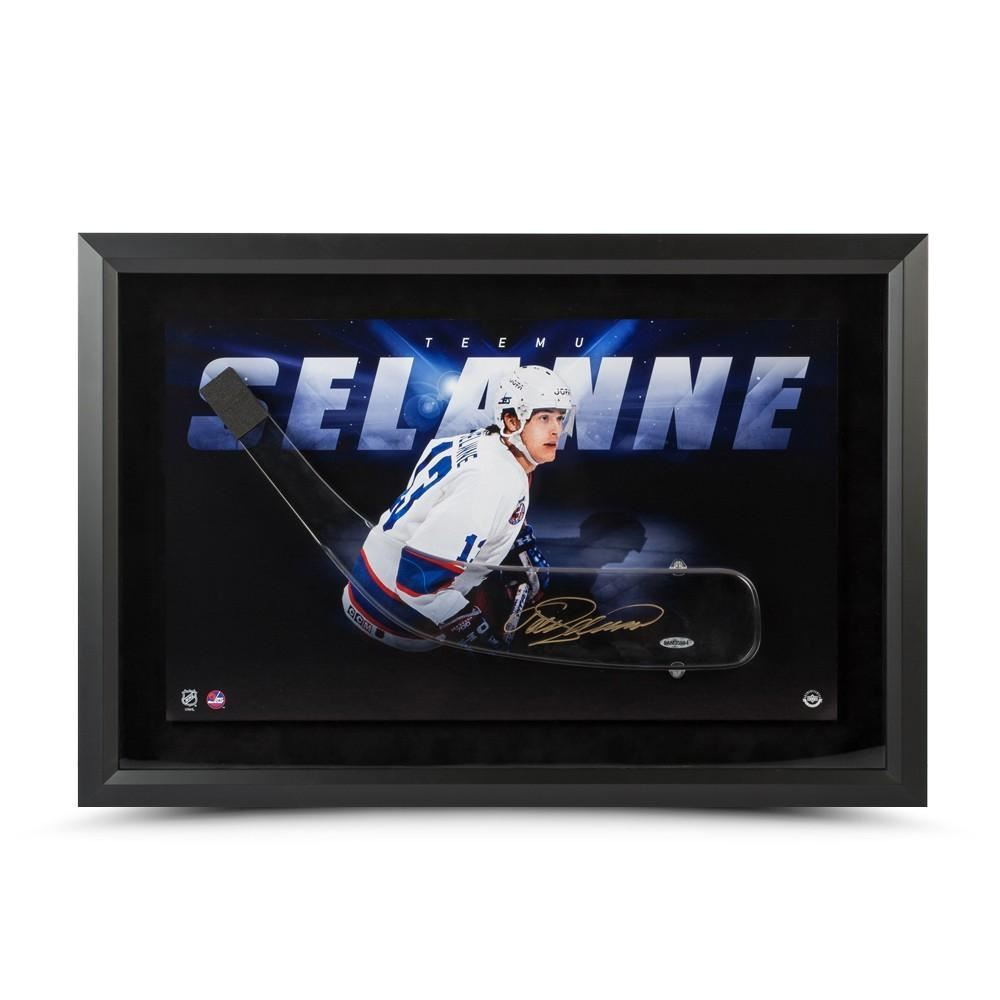 Teemu Selanne Signed Jets 25x17 Acrylic Stick Blade with