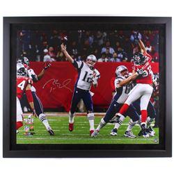 "Tom Brady Signed LE Patriots ""Super Bowl LI"" 39"" x 47"" Custom Framed Photo Display (TriStar  Steiner"