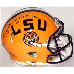"Leonard Fournette Signed LE LSU Tigers Full-Size Authentic Pro-Line Speed Helmet Inscribed ""40 TD"" ("