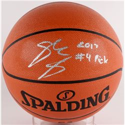 "Josh Jackson Signed NBA Game Ball Series Basketball Inscribed ""2017 #4 Pick"" (JSA COA)"